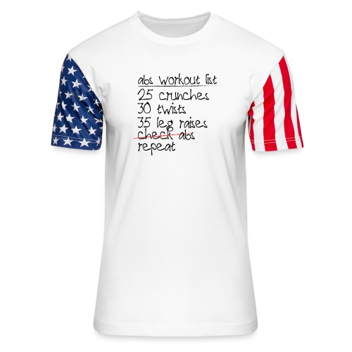 Abs Workout List - Unisex Stars & Stripes T-Shirt
