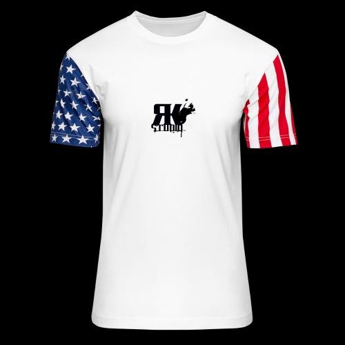 The World is My Garage - Unisex Stars & Stripes T-Shirt