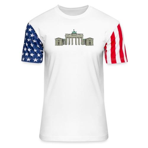 Brandenburg Gate Berlin - Unisex Stars & Stripes T-Shirt