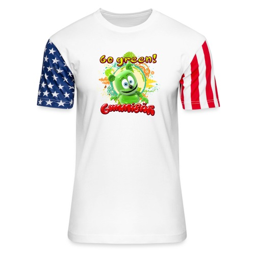 Gummibär Go Green Earth Day Trees - Unisex Stars & Stripes T-Shirt