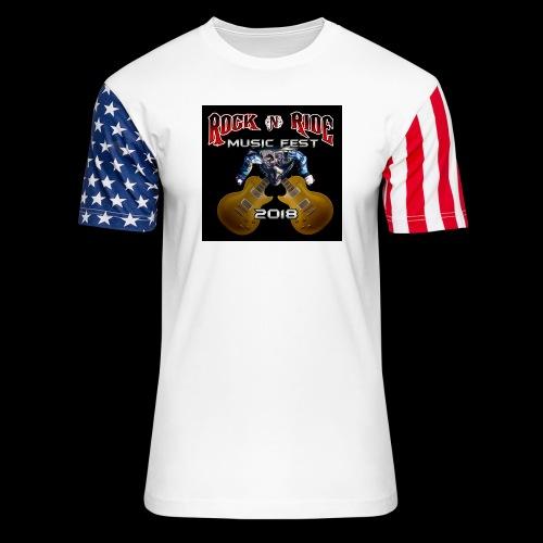 RocknRide Design - Unisex Stars & Stripes T-Shirt
