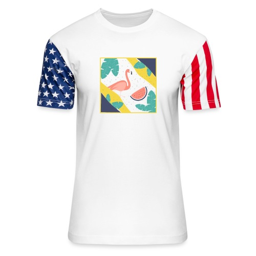 Flamingo - Unisex Stars & Stripes T-Shirt