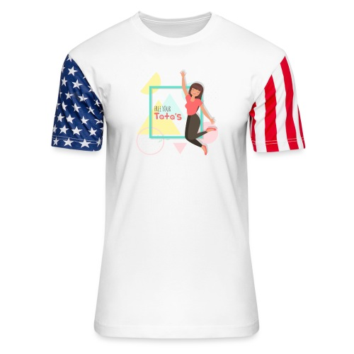 Free your tatas - Unisex Stars & Stripes T-Shirt