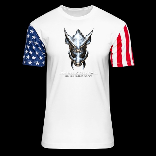 Busse Combat Light Text - Unisex Stars & Stripes T-Shirt