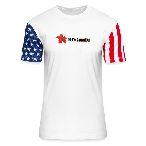 100% Canadian - Unisex Stars & Stripes T-Shirt