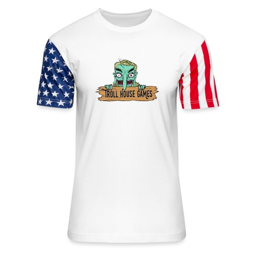 Troll House Games Cartoon Logo - Unisex Stars & Stripes T-Shirt