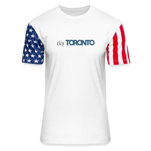 cityTorontoLogoNEW.png - Unisex Stars & Stripes T-Shirt