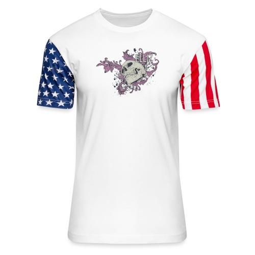 Ornamental Skull Bandana - Unisex Stars & Stripes T-Shirt