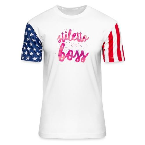 StilettoBoss HotPink - Unisex Stars & Stripes T-Shirt