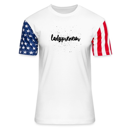 Ladypreneur Black Splatter - Unisex Stars & Stripes T-Shirt
