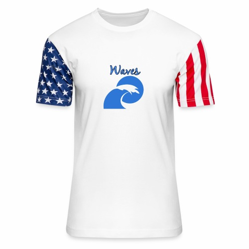 Waves - Unisex Stars & Stripes T-Shirt