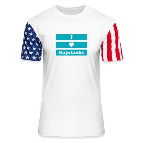 Haystacks Blue - Unisex Stars & Stripes T-Shirt