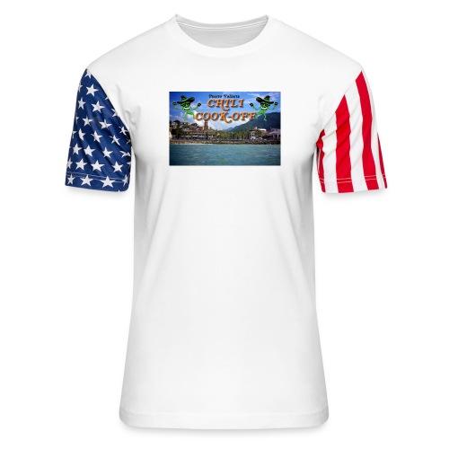 Puerto Vallarta From the Sea - Unisex Stars & Stripes T-Shirt