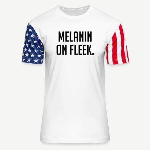 Melanin On Fleek - Unisex Stars & Stripes T-Shirt
