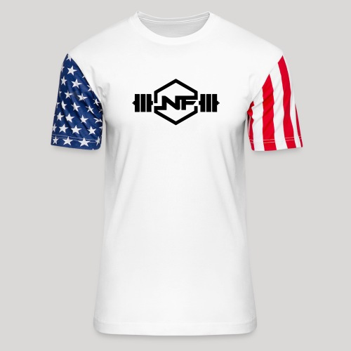 Natural Fitness Gym Logo - Unisex Stars & Stripes T-Shirt
