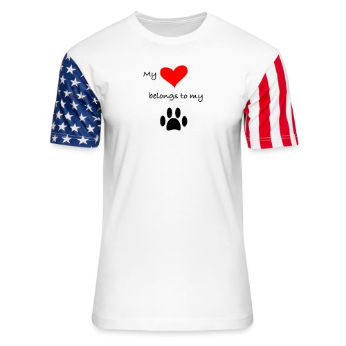 Dog Lovers shirt - My Heart Belongs to my Dog - Unisex Stars & Stripes T-Shirt