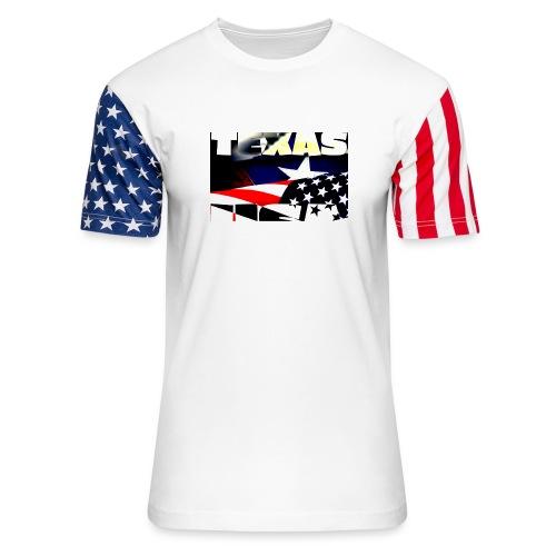 July 4th Texas USA - Unisex Stars & Stripes T-Shirt