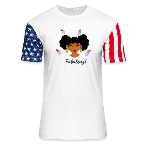 fabulous lipstick - Unisex Stars & Stripes T-Shirt