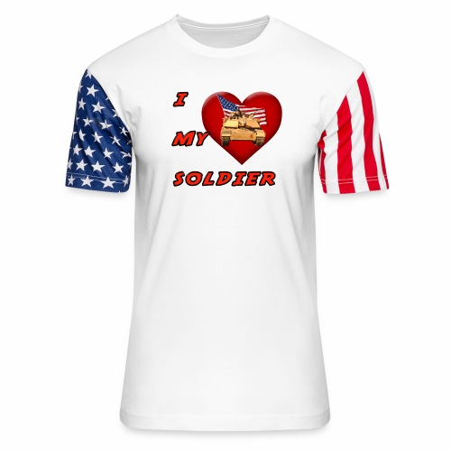 I Heart my Soldier - Unisex Stars & Stripes T-Shirt