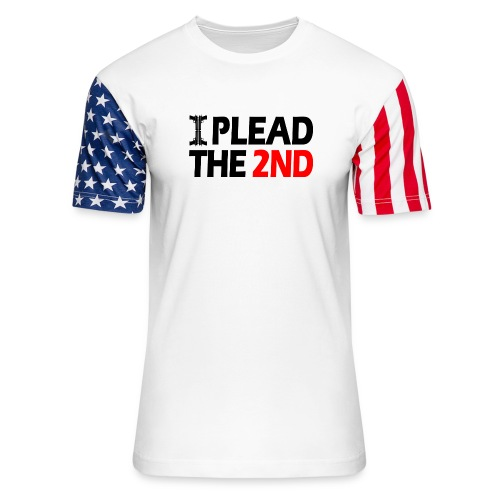 I Plead - Black FNT - Unisex Stars & Stripes T-Shirt