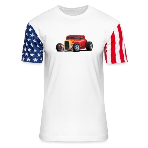 Classic Bold Red Custom Street Rod - Stars & Stripes T-Shirt