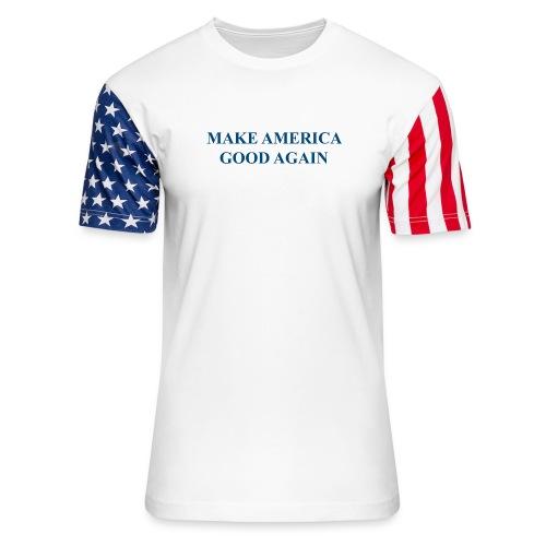 MAGOOA navy blue - Unisex Stars & Stripes T-Shirt