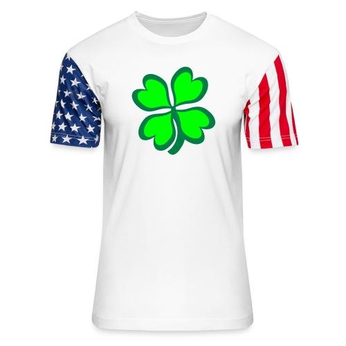 4 leaf clover - Unisex Stars & Stripes T-Shirt