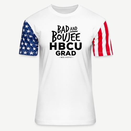 Bad and Boujee HBCU Grad - Unisex Stars & Stripes T-Shirt