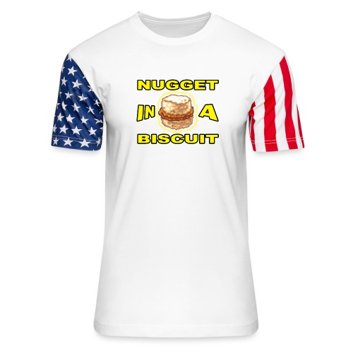 NUGGET in a BISCUIT!! - Unisex Stars & Stripes T-Shirt
