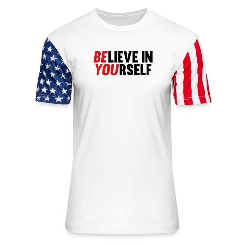 Believe in Yourself - Unisex Stars & Stripes T-Shirt