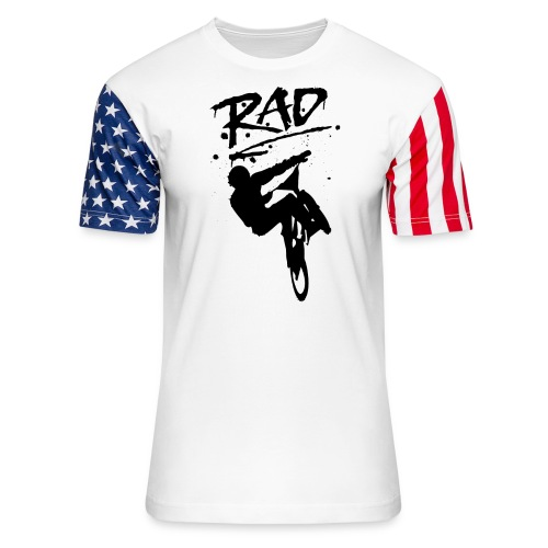 RAD BMX Bike Graffiti 80s Movie Radical Shirts - Unisex Stars & Stripes T-Shirt