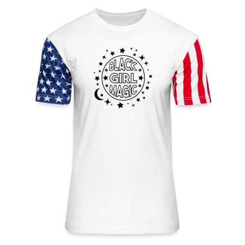 Black girl magic - Unisex Stars & Stripes T-Shirt