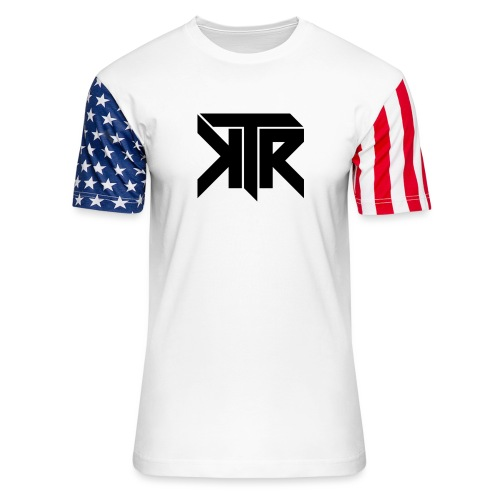 KTR Logo Black - Unisex Stars & Stripes T-Shirt