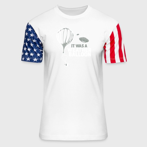 Weather Balloon UFO - Unisex Stars & Stripes T-Shirt