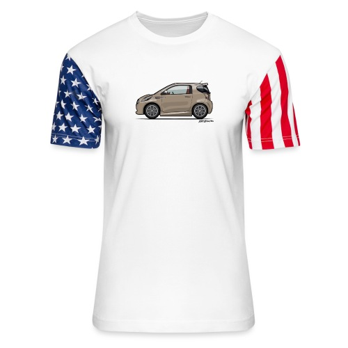 AM Cygnet Blonde Metallic Micro Car - Unisex Stars & Stripes T-Shirt