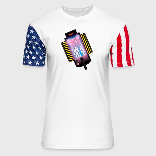 Ghostbusters Tetris Fair Use Mashup - Unisex Stars & Stripes T-Shirt