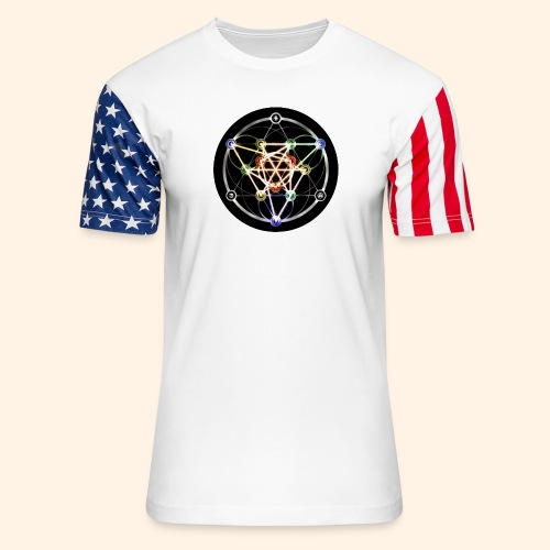 Classic Alchemical Cycle - Unisex Stars & Stripes T-Shirt