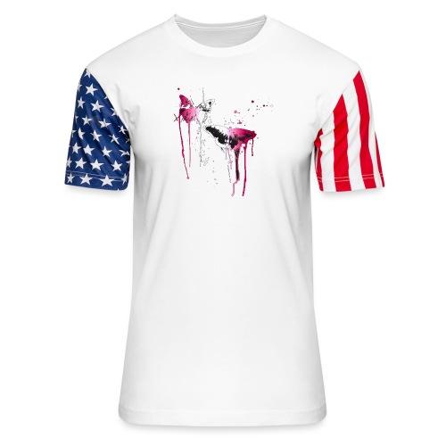 Dripping Butterflies - Unisex Stars & Stripes T-Shirt