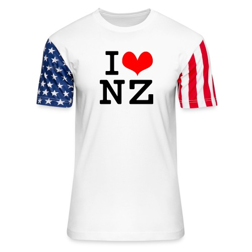 I Love NZ - Unisex Stars & Stripes T-Shirt