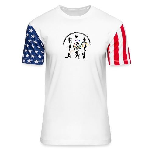 You Know You're Addicted to Hooping & Flow Arts - Unisex Stars & Stripes T-Shirt