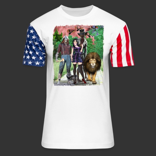 Ghastly Wicked Tales Vampire Dorothy The Damned - Unisex Stars & Stripes T-Shirt