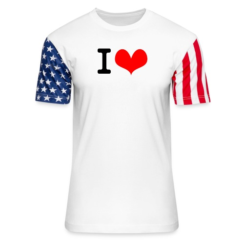 I Love what - Unisex Stars & Stripes T-Shirt