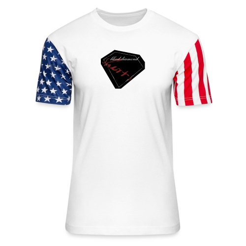 Blood Diamond -black logo - Unisex Stars & Stripes T-Shirt
