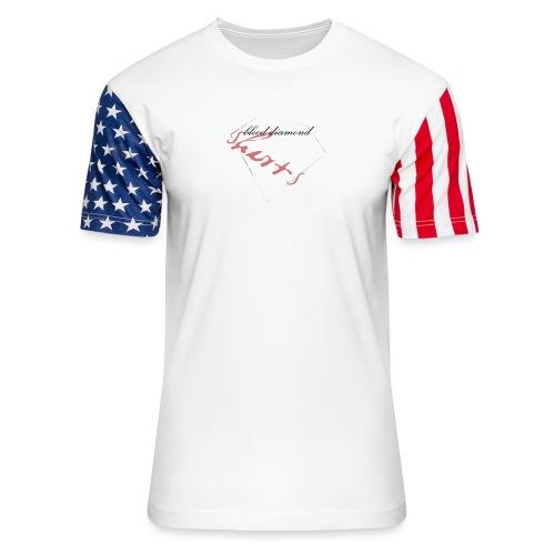 Blood Diamond -white logo - Unisex Stars & Stripes T-Shirt