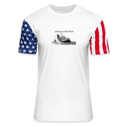 Enron Scandal Joke - Unisex Stars & Stripes T-Shirt