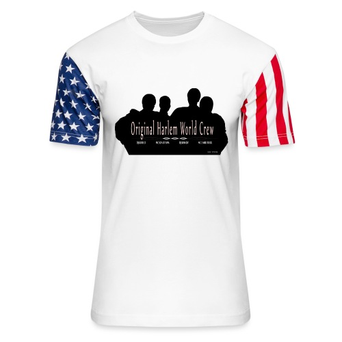 Harlem World Crew the4 - Unisex Stars & Stripes T-Shirt