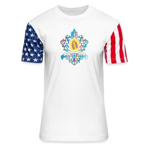 peacock love logo - Unisex Stars & Stripes T-Shirt
