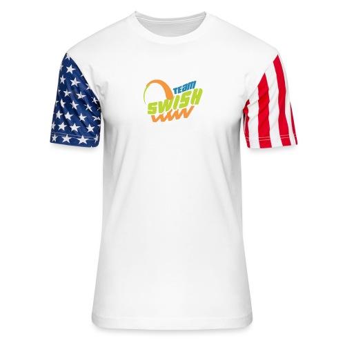 TeamSwish logo2 20 - Unisex Stars & Stripes T-Shirt