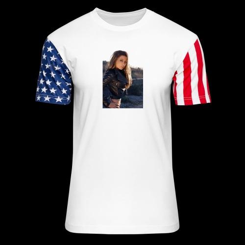 Rebecca Grant tuff and sexy - Unisex Stars & Stripes T-Shirt