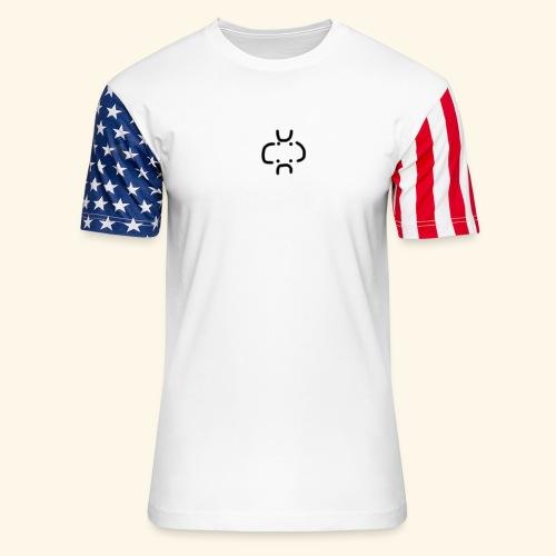 4 Visages classic design - Unisex Stars & Stripes T-Shirt